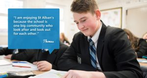 Pupils at St Alban's
